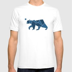 California Bear White Mens Fitted Tee MEDIUM