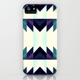 Dashing in Blue iPhone Case