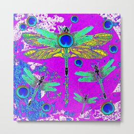 FANTASY DRAGONFLIES DREAMSCAPE PURPLE ART Metal Print