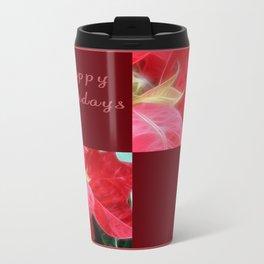 Mottled Red Poinsettia 2 Happy Holidays Q10F1 Travel Mug