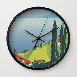 Lake Como Italy Wall Clock