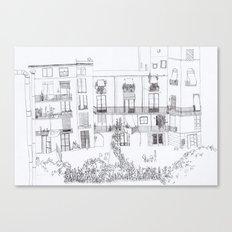 Algún lloc aprop del carrer Comtal Canvas Print