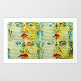 Positioning - faces 1 Art Print