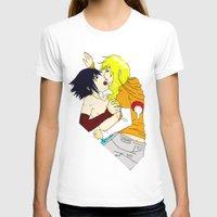 sasuke T-shirts featuring Sasuke y Liara by rosalia