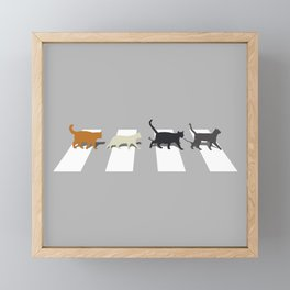 Kitty Road Framed Mini Art Print