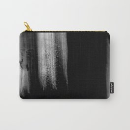 Black And White Bokeh Stripes Brush Strokes - Rad Carry-All Pouch