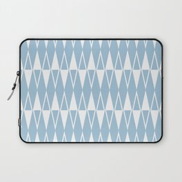 Mid Century Modern Diamond Pattern Pale Blue 234 Laptop Sleeve