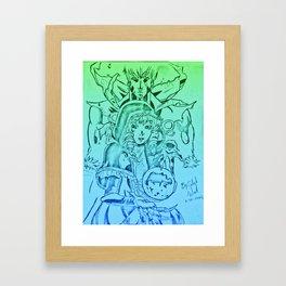 Gazes Of Destruction Framed Art Print