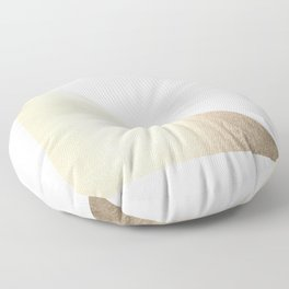 Simply Shadow in White Gold Sands Floor Pillow