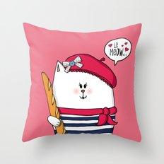 Michelle Le Meow Throw Pillow