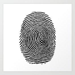 Fingerprint CSI crime scene Art Print