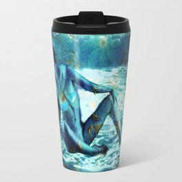 Lady in blue Travel Mug