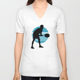 TENNIS indoor Return Net Unisex V-Neck