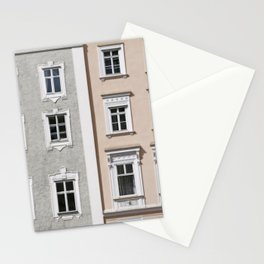 Gray and Beige European Buildings Stationery Cards