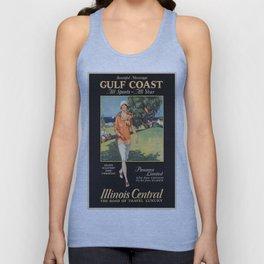 Vintage poster - Gulf Coast Unisex Tank Top