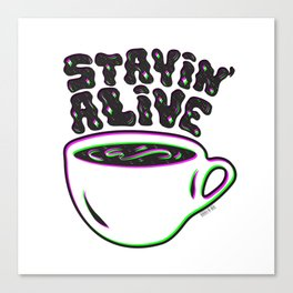 Stayin' Alive in 3D Canvas Print