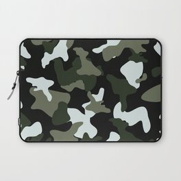 Green White camo camouflage army pattern Laptop Sleeve