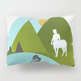 The Mermaid and the Centaur Pillow Sham