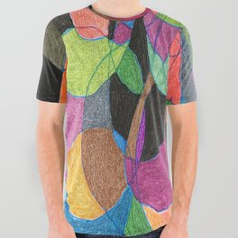 Intertwining Circles All Over Graphic Tee
