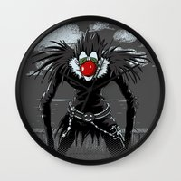 magritte Wall Clocks featuring Ryuk Magritte by le.duc