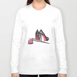High Heels and nail polish art Long Sleeve T-shirt