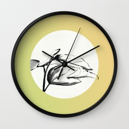 Silkworms Awaken and Eat the Mulberry Leaves Wall Clock