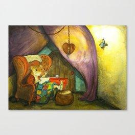 Ginger in Her Cozy Caravan Canvas Print