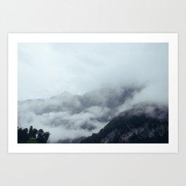 Among the Swiss Clouds Art Print