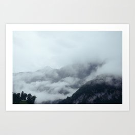 Among the Swiss Clouds Art Print