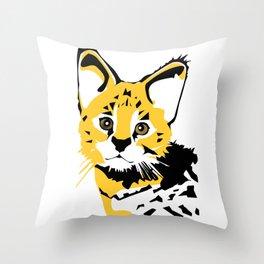 Serval 2 Throw Pillow