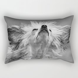 Big Eared Dog Rectangular Pillow