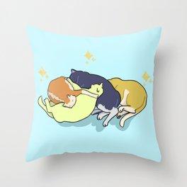 Sleeping cats Throw Pillow