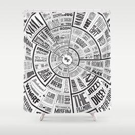 San Francisco Type Wheel Shower Curtain