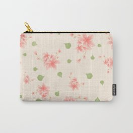 pink flowers pattern spring nature Carry-All Pouch