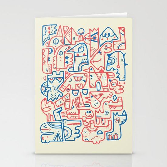 Tribal Animals Stationery Cards