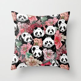 Because Panda Throw Pillow