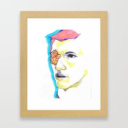 Flower boy Framed Art Print