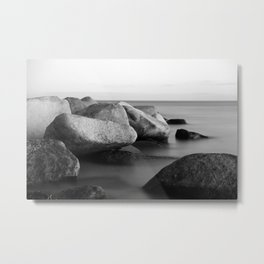 Stones in the sea Metal Print
