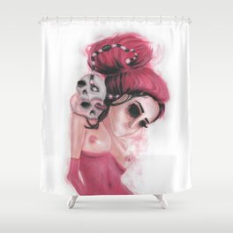 Red Coloured Dreams Shower Curtain