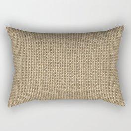 Natural Woven Beige Burlap Sack Cloth Rectangular Pillow