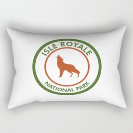 Isle Royale National Park Wolf Rectangular Pillow