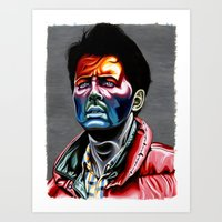 mcfly Art Prints featuring Marty Mcfly by Cartyisme