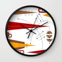 Mid-Century Abstract in Motion Wall Clock