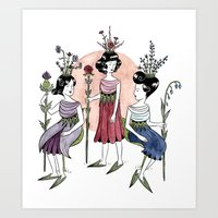 The Flower Makers Art Print