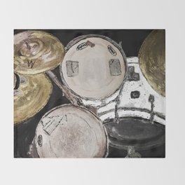 drum set, ready to rock Throw Blanket