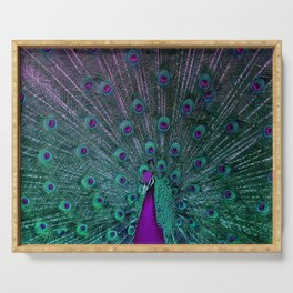 BLOOMING PEACOCK Serving Tray
