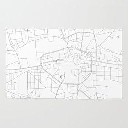 Dortmund, Germany Minimalist Map Rug