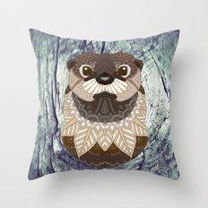 Ornate Otter Throw Pillow