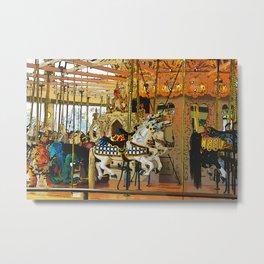Carousel Magic - Merry-go-Round Metal Print
