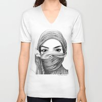 kiki V-neck T-shirts featuring Kiki by BenHucke